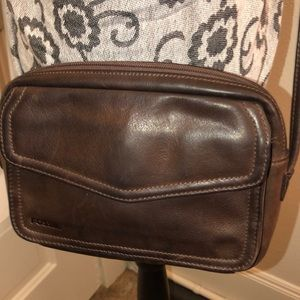 Fossil Distressed Leather Crossbody Good Condition
